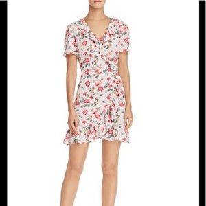 Aqua by Bloomingdales floral wrap dress. XS